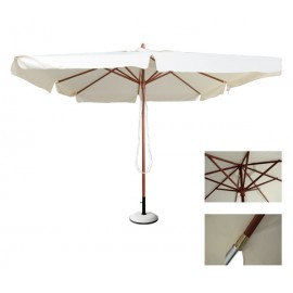 SOLEIL-ομπρέλα ξύλινη 3Χ3 m e912