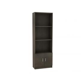 DECON ξύλινη βιβλιοθήκη με 2 ντουλάπια βεγγε eo3018,1