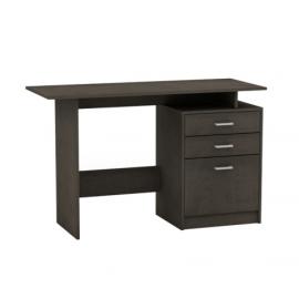 eo3036,1 DECON ξύλινο γραφείο με συρτάρια 120x48 cm wenge