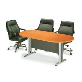 eo146,1 Συνεδρίου τραπέζι οβάλ Dark Grey/Cherry 180X90