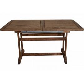 037-000041 Τραπέζι Areti επεκτεινόμενο ορθογώνιο μασίφ ξύλο οξιάς 140+40x80 κερασί
