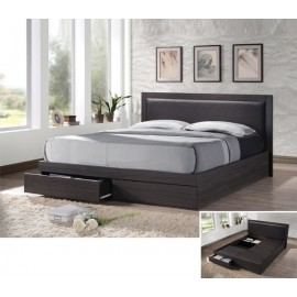 em371 LIFE κρεβάτι με συρτάρια+αποθηκευτικό χώρο zebrano