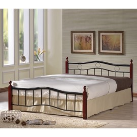 e8036 VICTOR-Διπλό κρεβάτι μέταλλο-ξύλο