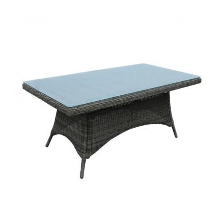 e6554 MONTANA-Tραπέζι αλουμινίου Φ5mm Round Wicker Grey/Brown 180Χ90
