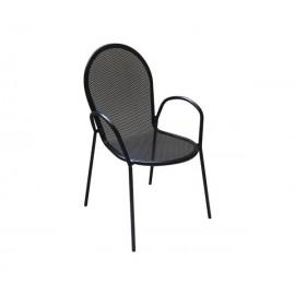 e5161,2 ANTICO-Πολυθρόνα μεταλλική μαύρη