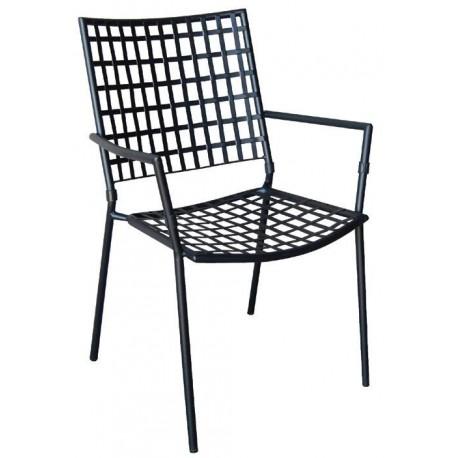e5164,1 Castello πολυθρόνα μεταλλική mesh μαύρη