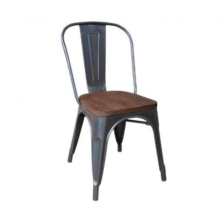 e5191W,10 RELIX Wood καρέκλα High back Μεταλλική Antique Black