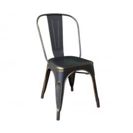 RELIX καρέκλα High back Μεταλλική Gold