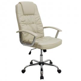 Καρέκλα γραφείου διευθυντή MATA με PU χρώμα μπεζ