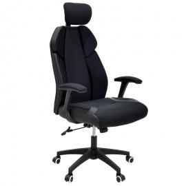 126-000018 Καρέκλα γραφείου διευθυντή MOMENTUM Bucket μαύρο υφάσμα Mesh-πλάτη pu μαύρο