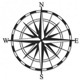 119-000918 Μεταλλικό διακοσμητικό τοίχου Compass 45x0,3x45εκ