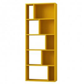 119-000881 Βιβλιοθήκη Onda χρώμα μουσταρδί 65x24x166εκ