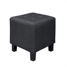 Ε7042,1 MEDEA Σκαμπώ Ύφασμα Μαύρο 37x37x42cm