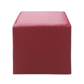 Ε7047,4 CLUB Σκαμπώ PU Κόκκινο 37x37x42cm