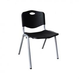 ΕΟ549,1 STUDY Καρέκλα Μαύρη (Βαφή Silver)