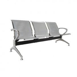 Ε503,01 Κάθισμα Υποδοχής 3-Θ Γκρι (Σκελ.Χρώμιο)