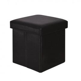 Ε7044,3 ORION Αποθ/κό Σκαμπώ PU Μαύρο 38x38x38cm