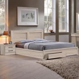 ΕΜ363,2 LIFE Κρεβάτι-Συρτάρια 160x200 Sonoma