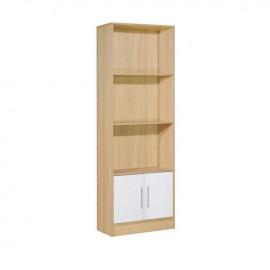 ΕΟ3018,7 DECON Βιβλιοθήκη 60x29x180cm απόχρ.Σημύδας/Άσπρο