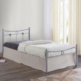 Ε8068,1 DUGAN Κρεβάτι 90x200cm Μεταλ.Silver