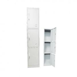 Ε6006 LOCKER 3 θεσ.Μεταλλικό 38x45x185cm Λευκό