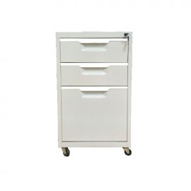 Ε6007 Συρταριέρα Μεταλλική 40x50x67cm Λευκή