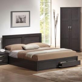 ΕΜ3634 LIFE Κρεβάτι-Συρτάρια 150x200 Zebrano