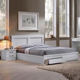ΕΜ3634,1 LIFE Κρεβάτι-Συρτάρια 150x200 Άσπρο