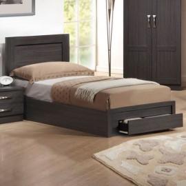 ΕΜ3632 LIFE Κρεβάτι-Συρτάρι 110x200 Zebrano
