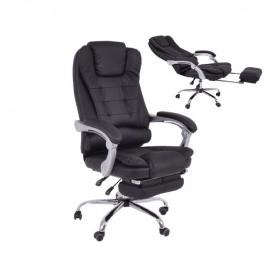 ΕΟ573,1 BF9700 Πολυθρόνα Διευθ.Relax PU Μαύρο