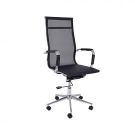 ΕΟ226 BF3200 Πολυθρόνα Διευθ.Μαύρο Mesh