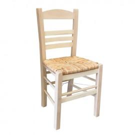 Ρ969,0 ΣΙΦΝΟΣ Καρέκλα Άβαφη με Ψάθα Αβίδωτη