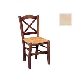 Ρ967,0 METRO Καρέκλα Άβαφη με Ψάθα Αβίδωτη