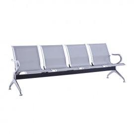 Ε504,01 Κάθισμα Υποδοχής 4-Θ Γκρι (Σκελ.Χρώμιο)