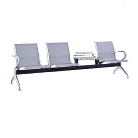 Ε502,01 Κάθισμα Υποδοχής 3-Θ + Τραπ.Γκρι (Σκελ.Χρώμιο)