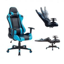 ΕΟ576 BF8000 Gaming Πολυθρόνα Διευθ/ντή Pvc Μαύρο/Μπλε