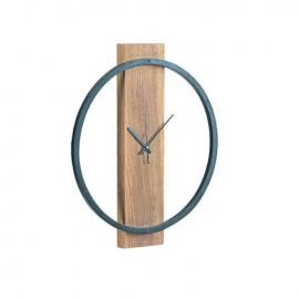 ΕΑ7021 CLOCK-1 Ρολόι Τοίχου Φ45x4cm Ακακία Φυσικό/Μεταλ.Μαύρο
