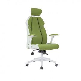 ΕΟ587,1 BF8300 Πολυθρόνα Διευθ.Πράσινο Microfiber/Λευκό Pu