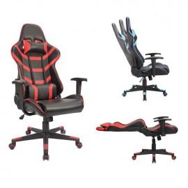 ΕΟ588,1 BF9050 Gaming Πολυθρόνα Διευθυντή Pvc Μαύρο/Κόκκινο