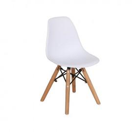 ΕΜ123,ΚW ART Wood Kid Καρέκλα PP Λευκό