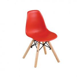 ΕΜ123,ΚR ART Wood Kid Καρέκλα PP Κόκκινο
