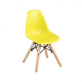ΕΜ123,ΚY ART Wood Kid Καρέκλα PP Κίτρινο