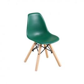 ΕΜ123,ΚG ART Wood Kid Καρέκλα PP Πράσινο