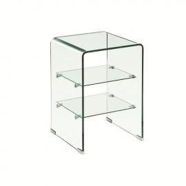 ΕΜ729,1 GLASSER Clear Ραφιέρα 40x40x60cm Γυαλί 10/5mm
