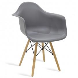038-000001 Πολυθρόνα Julita πολυπροπυλενίου χρώμα γκρι επαγγελματική κατασκευή