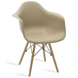 038-000004 Πολυθρόνα Julita πολυπροπυλενίου χρώμα μπεζ επαγγελματική κατασκευή