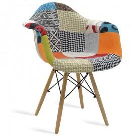 038-000005 Πολυθρόνα Julita ύφασμα patchwork επαγγελματική κατασκευή