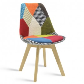 038-000006 Καρέκλα Gaston ύφασμα patchwork επαγγελματική κατασκευή