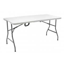 142-000003 Τραπέζι catering RODEO πτυσσόμενο-βαλίτσα λευκό 152x70x74εκ