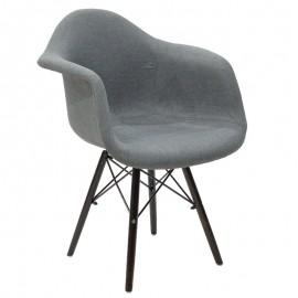 008-000023 Πολυθρόνα Julita με επένδυση υφάσματος σε χρώμα γκρι
